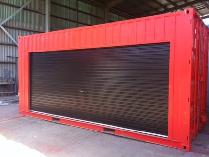 20ft Container roller access doors red Brisbane