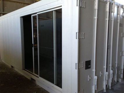 20ft Container sliding access doors Brisbane