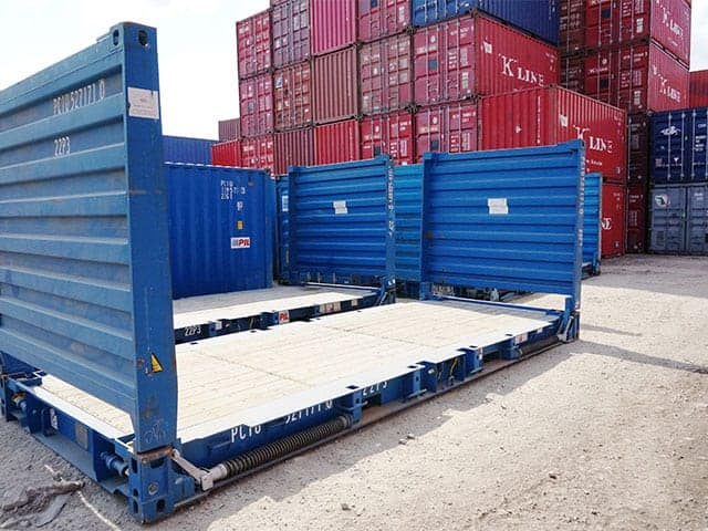 20ft Flat Rack Shipping Container Gateway Container