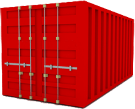 20ft Red Shipping Container