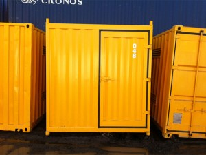 20ft yellow dangerous goods containers front Brisbane