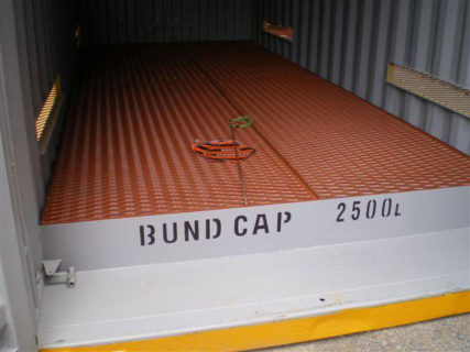20ft yellow dangerous goods containers interior Brisbane