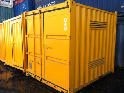 20ft yellow dangerous goods containers side Brisbane