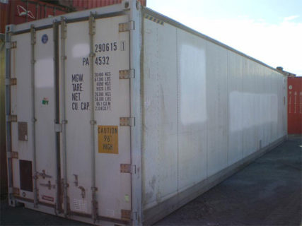40ft Refridgerated containers Reefer Side