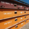 40ft flat rack containers stacked