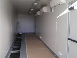Air conditioned container & electrical switch room interior