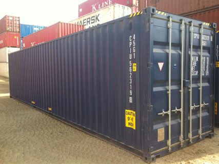 Blue new 40ft high cube container Brisbane