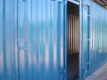 Container access doors blue Brisbane