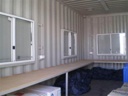 Container site office work bench