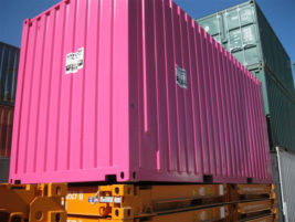 Pink 20ft high cube container Brisbane