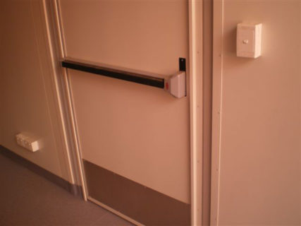 Secure container door