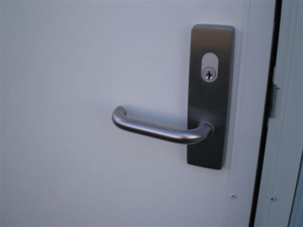 Secure container door lock