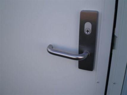 Secure container door lock