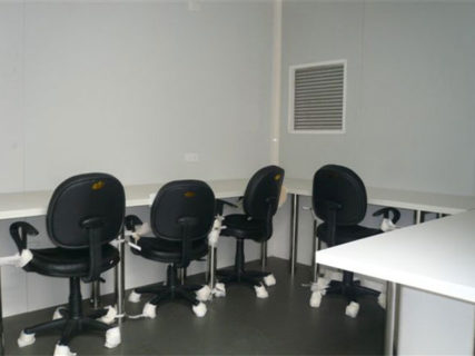 Shipping container portable office chairs