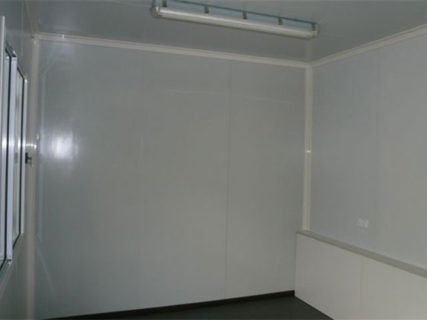 Shipping container portable office interior