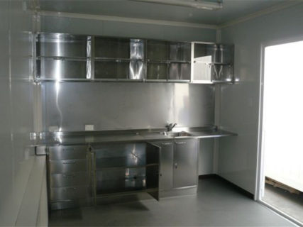 Shipping container portable office kitchen