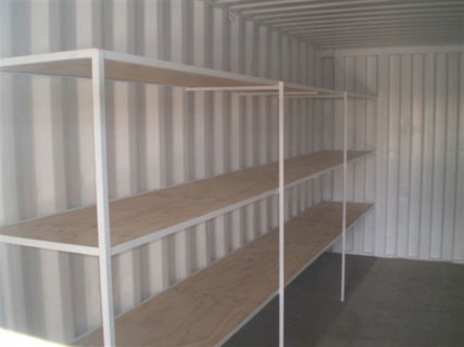 Transportable mobile workshop 3 tier shelving