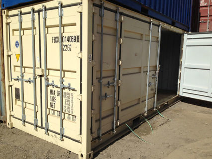 White 20ft side opening container