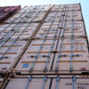 White new 40ft high cube stacked containers Brisbane
