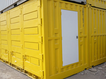 Yellow 20ft side opening containers DG