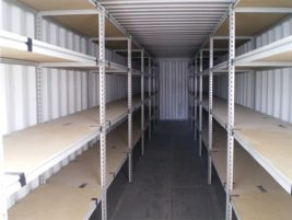 40ft Dual container 4 Tier Document Shelving