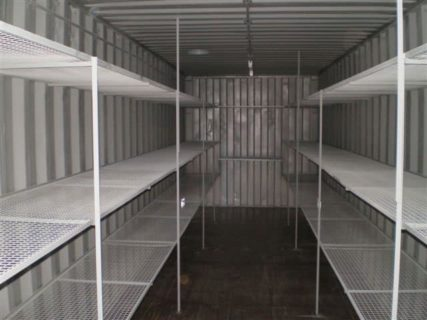 Container 3 Tier Steel Mesh Shelving