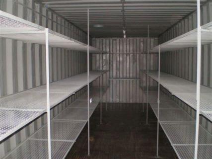 Container 3 Tier Steel Mesh Shelving
