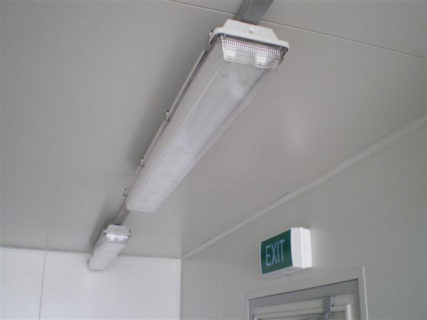 Container fluorescent lighting
