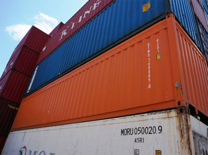 Orange 20ft Open top shipping containers Brisbane