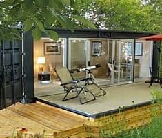 storage container cabin plans