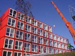 student housing Keetwonen, used shipping containers