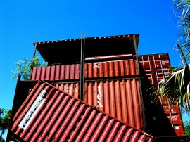 Shipping Container House Gainesville Blue Sky