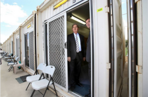 The State Premier and Corrections Minister inspect a cell Image Source: The Border Mail