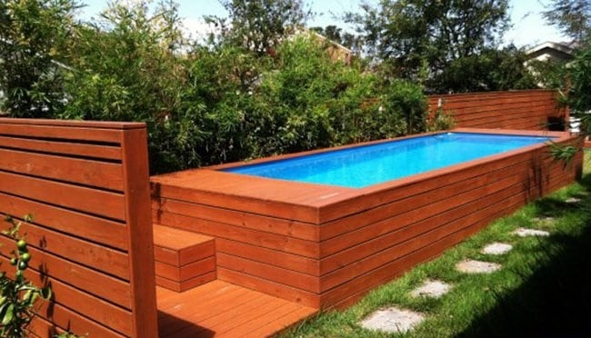 How to Build a Shipping Container Swimming Pool - Globus ...