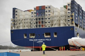 Example of biggest reefer container carrier