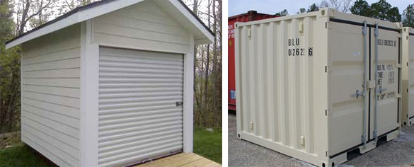 having a garage sale ideas - Shipping Containers The Perfect Garden Shed