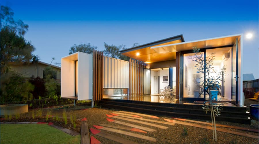 aussie shipping container home wins design awards. Black Bedroom Furniture Sets. Home Design Ideas