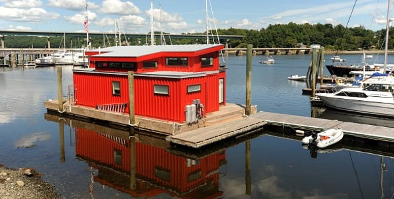 shipping-container-houseboat