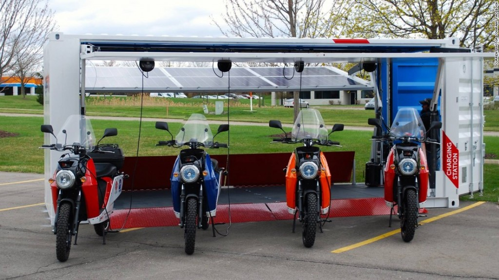 solar powered shipping container