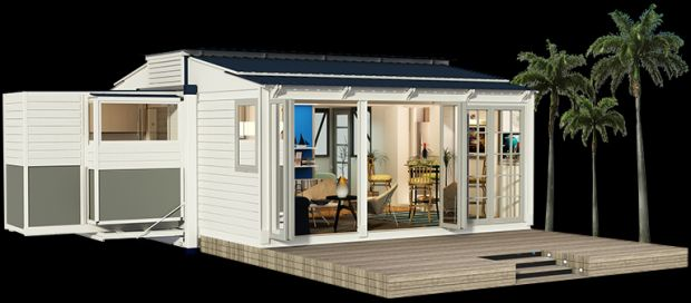 Spotlight On A Remote Control Portable Container Home