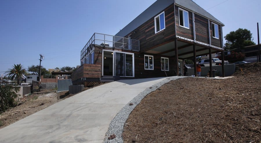 Shipping container luxury home