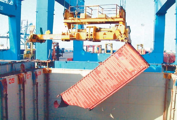 Hanging shipping container