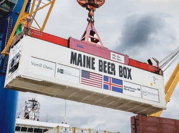 Maine beer shipping container box