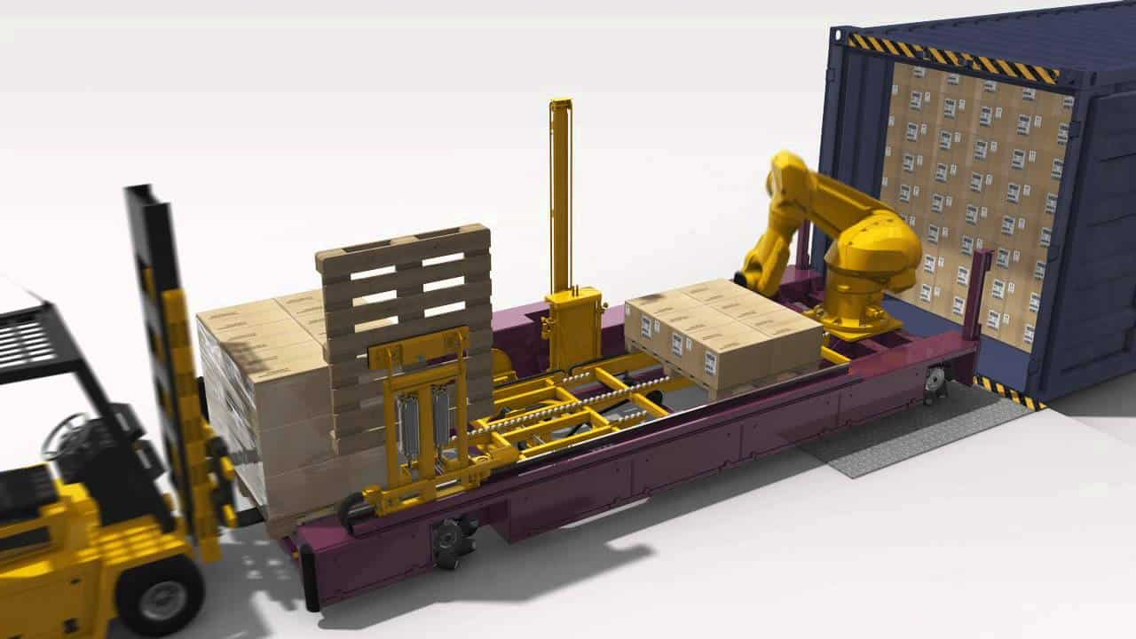 How An Interactive Robotic System Can Unload Shipping Containers