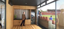 NZ Chiefs: Shipping Container Corporate Boxes at Waikato Stadium