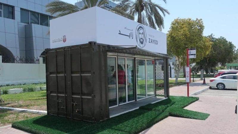 Abu Dhabi Beats the Heat With Air Conditioned Shipping Container Bus Shelters