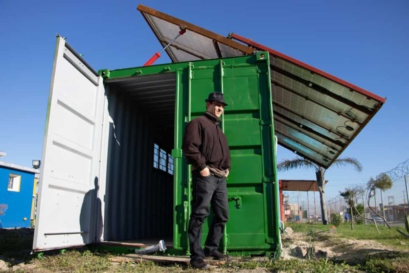 Power Turtle Repurposed Shipping Container Provides Power