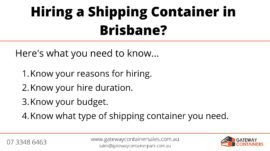 Hiring a shipping container in Brisbane